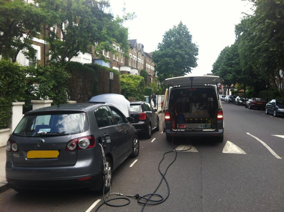 mobile fuel drain